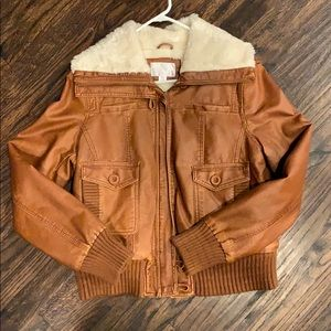 Gorgeous Aviator Style Jacket with Fur lining